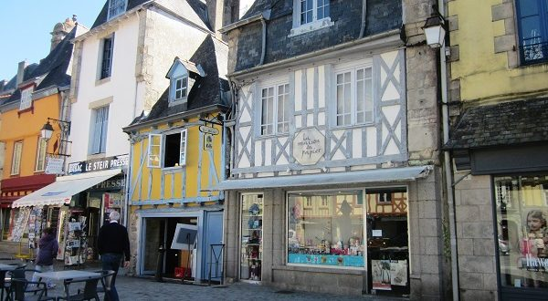 Half timbered houses are a featureo f Brittany.